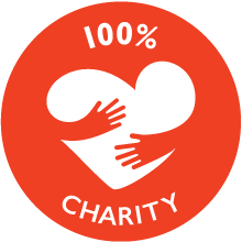 100% Charity